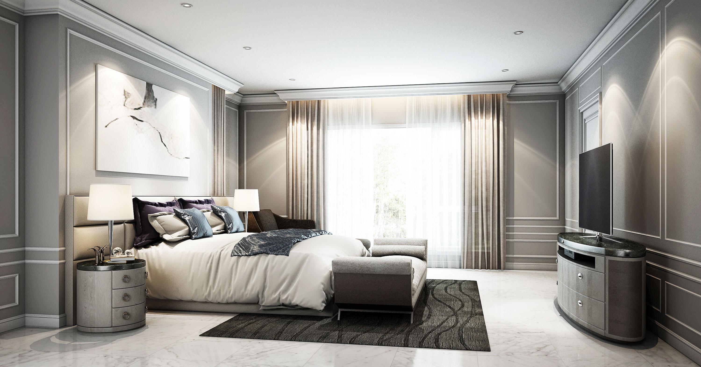 ห้องนอนแขกmodern-classic